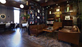 dim lit lounge at century club