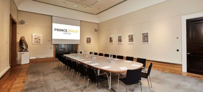 conference venue London with long table