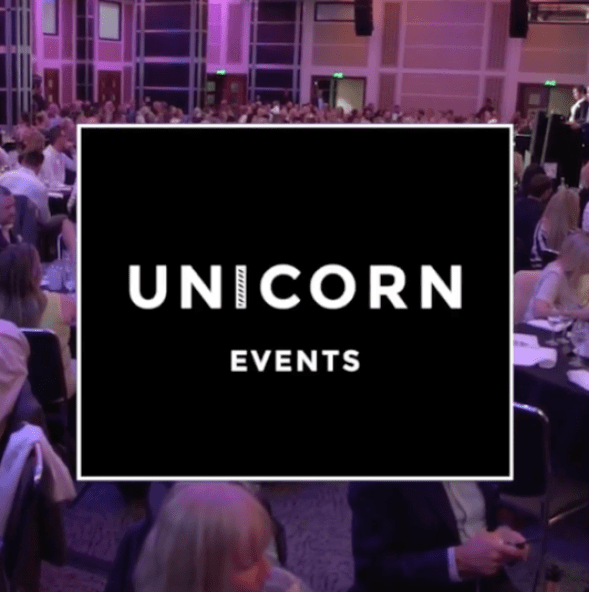 Unicorn Events Logo over a pink image