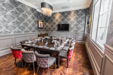 medium sized dining room in London