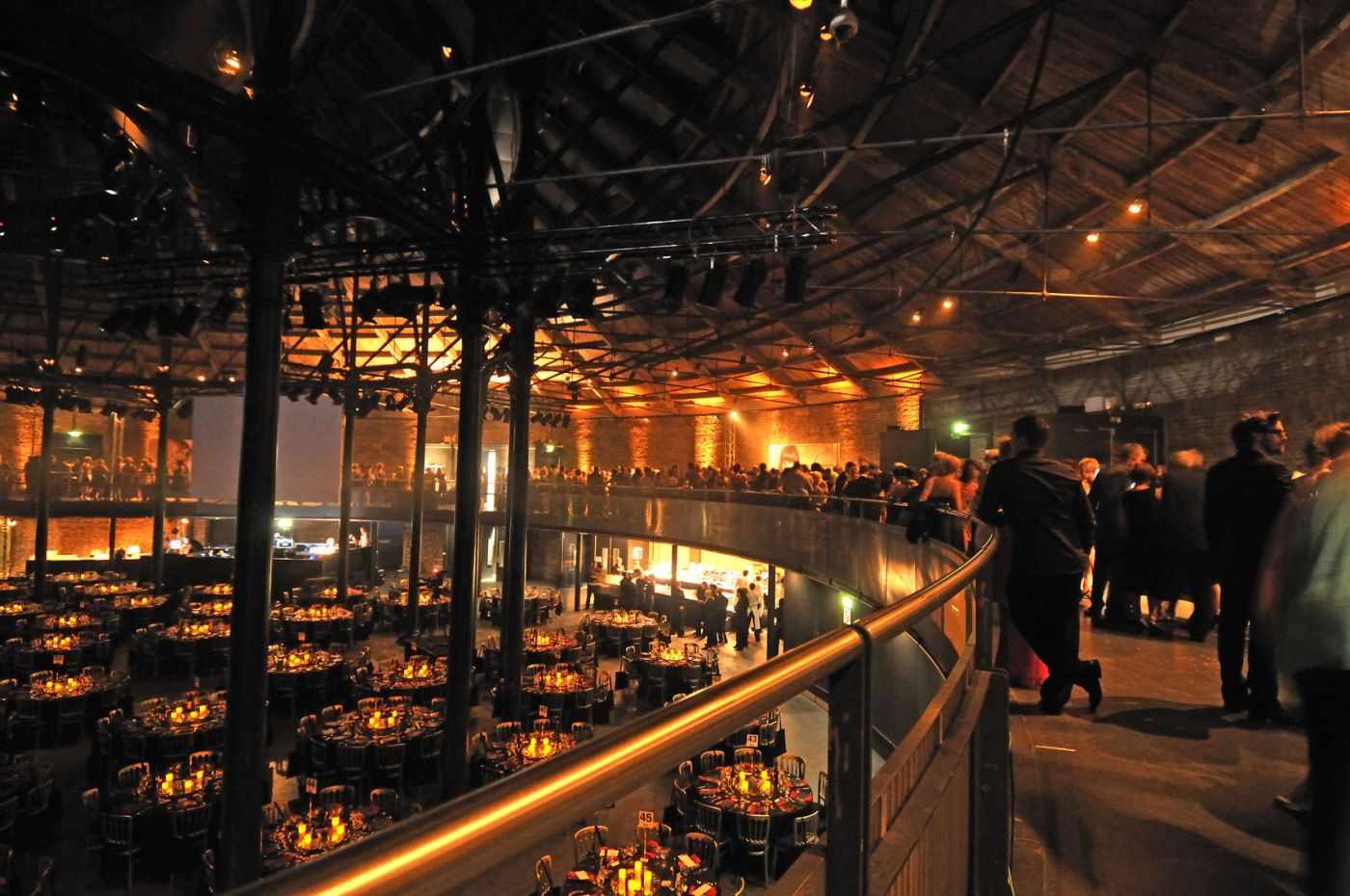 An image from the balcony at the roundhouse looking down on the main Space