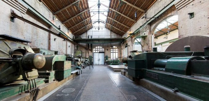 warehouse with remnants of power station