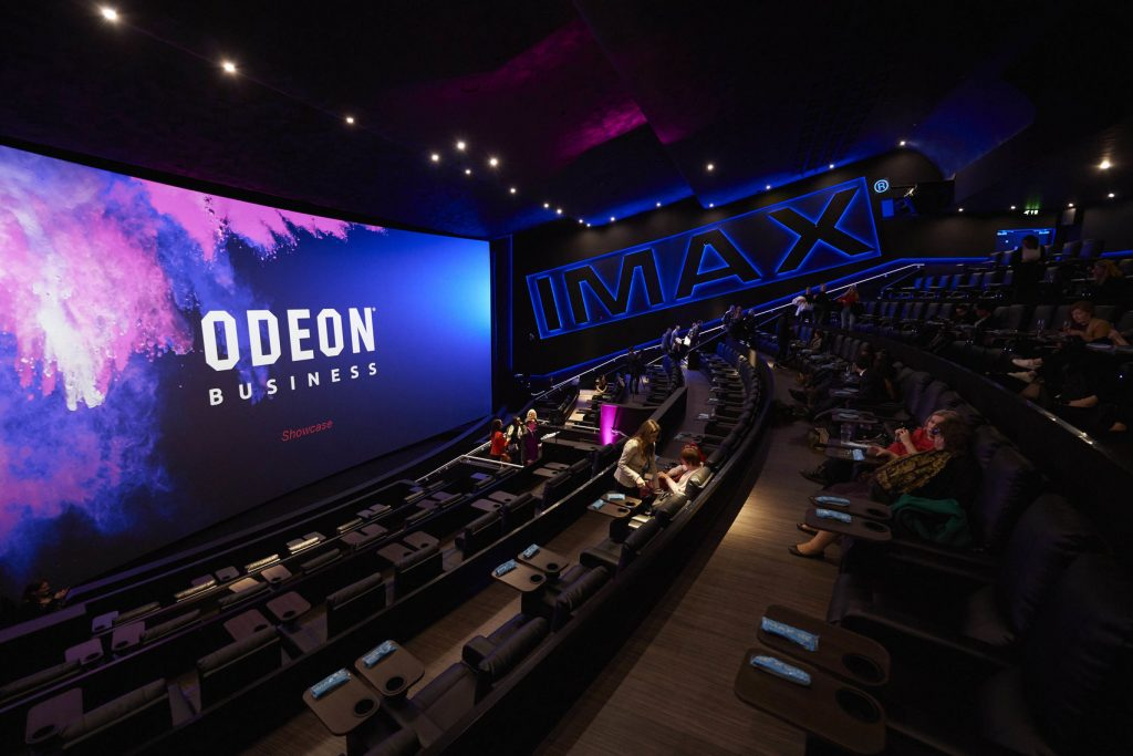 An ODEON cinema screen for hire in Swiss Cottage.