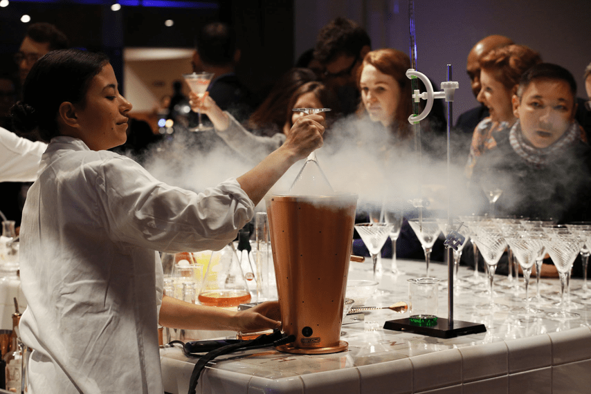People experimenting in Science Museum