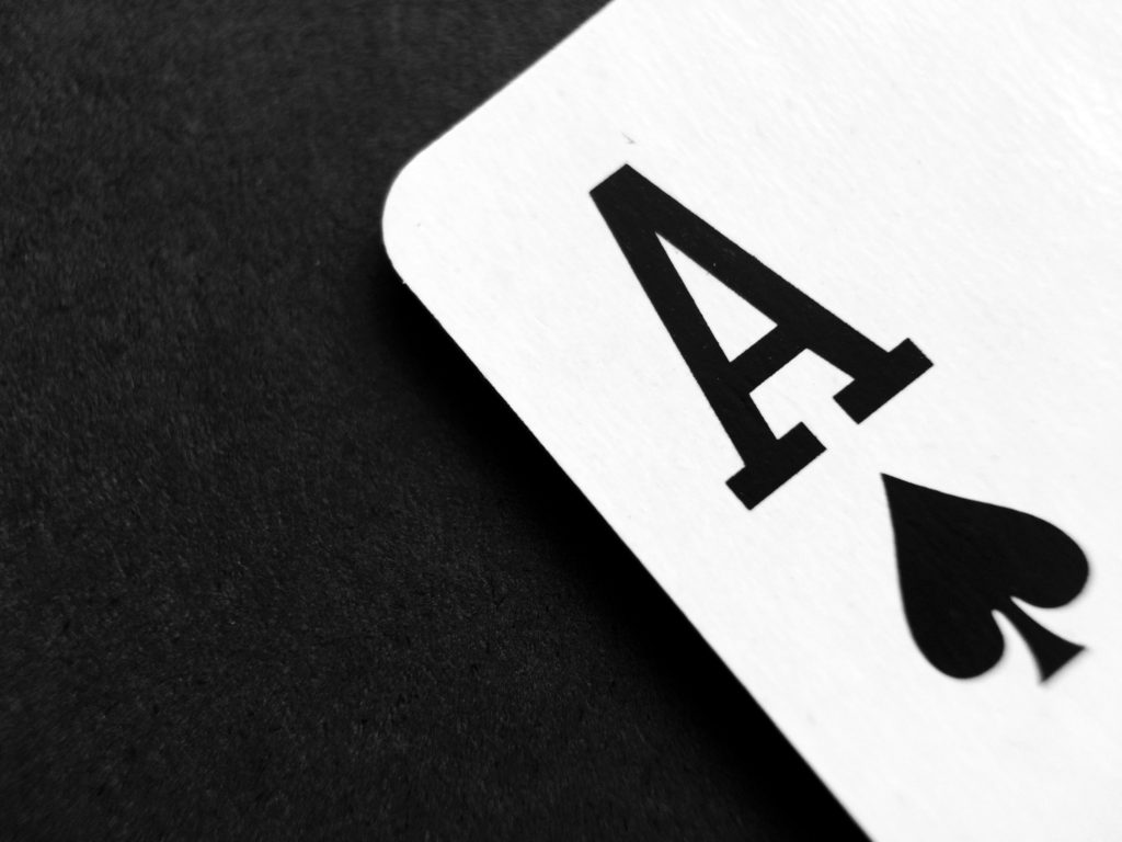 A close up shot of the ace of spades