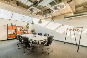 A large contemporary meeting room