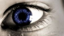Tear in a Blue Eye