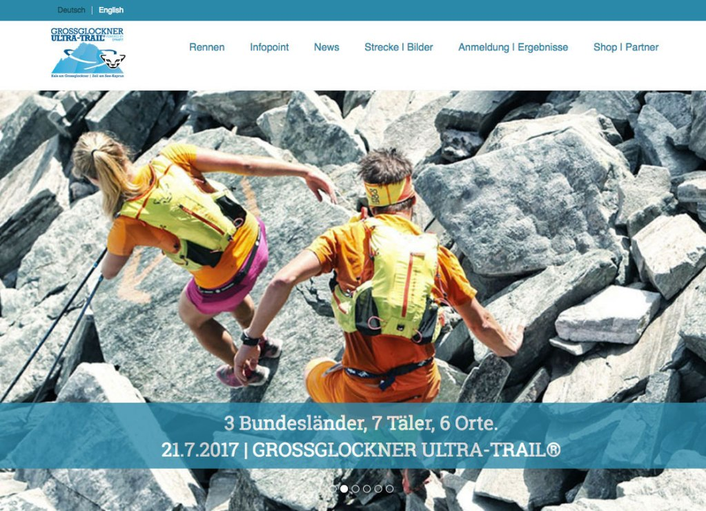 Ultratrail Webseite