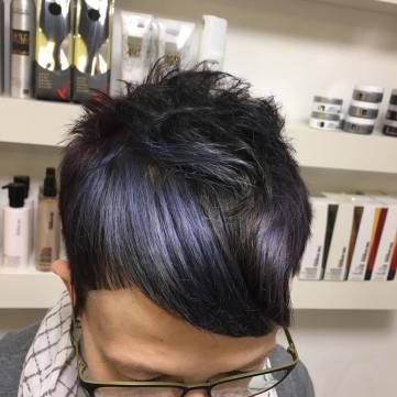 Metallic-Haartrend: blau