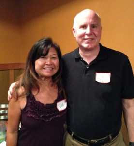 Dr. Heinrich with this year's San Jose Walk for the Cure organizer, Liz Chew.