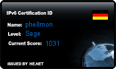 IPv6 Certification Badge for phellmon
