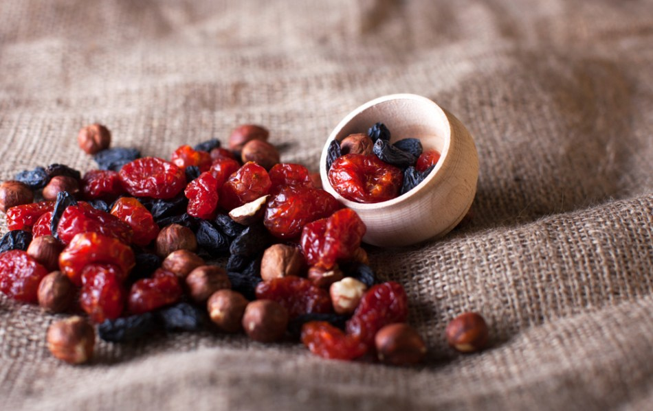 berries on a bowl