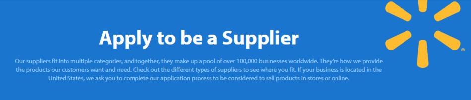 walmart supplier application
