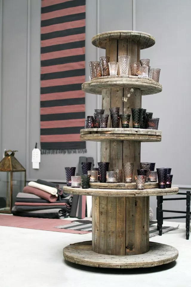 stacked spool tables