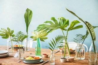 Een tafel vol groen