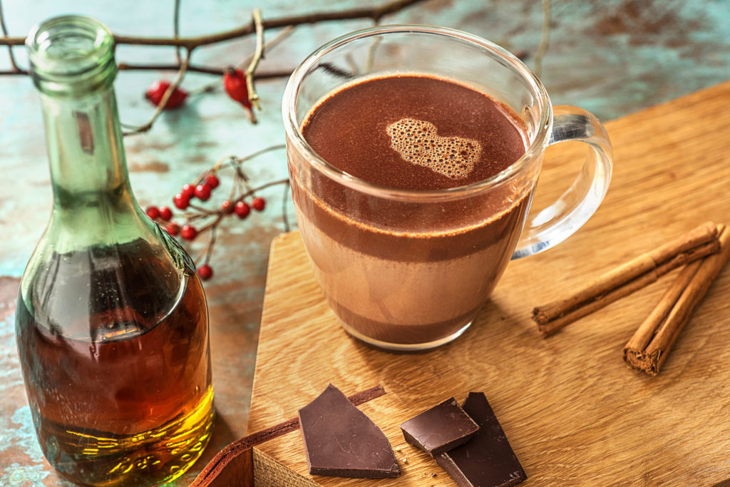 rum spiked hot chocolate