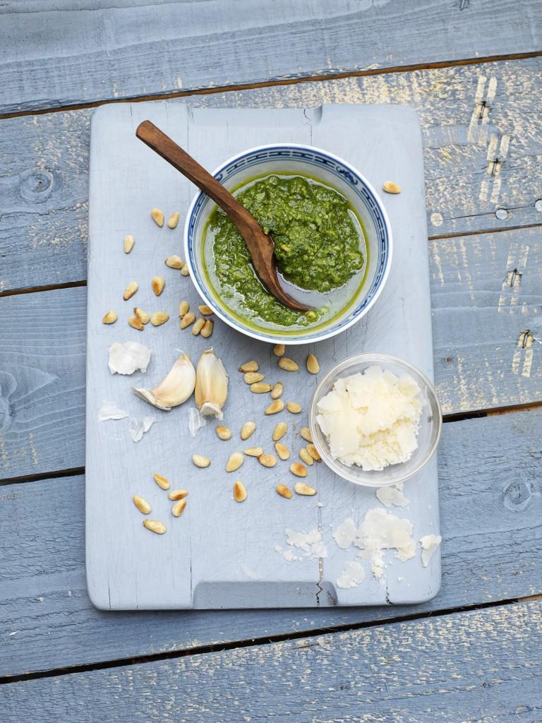 Gemakkelijke groene pesto
