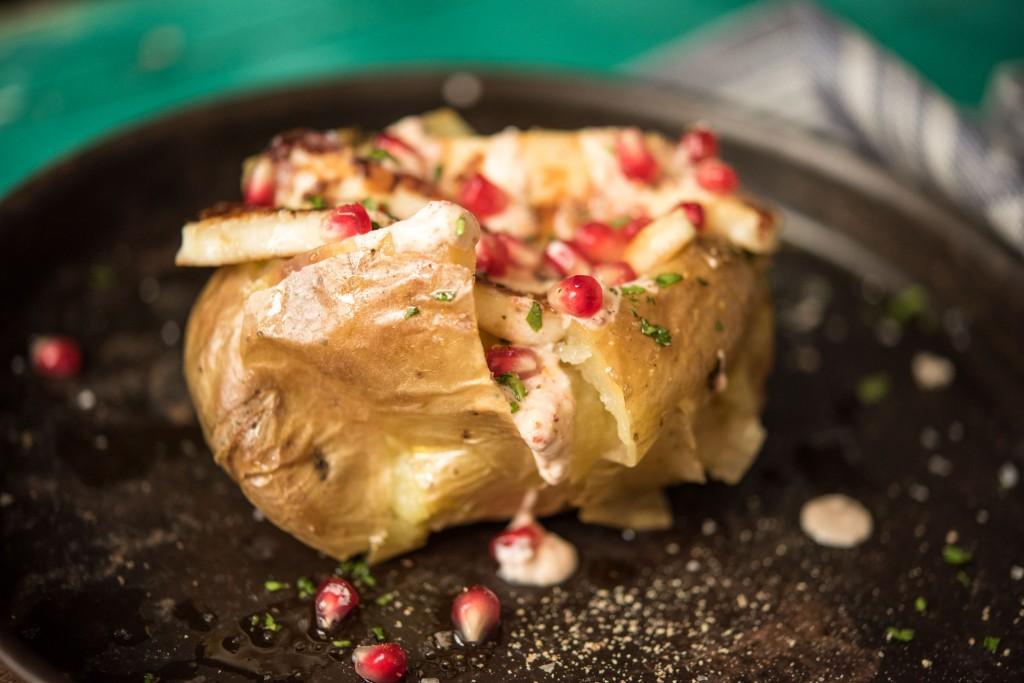 Healthy baked potato