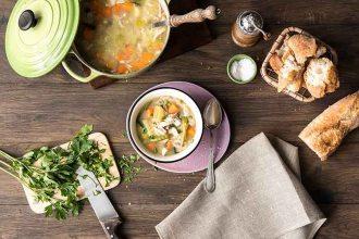 A Healthy Soup: It's Chicken