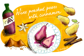 Christmas Desserts: Wine Poached Pears