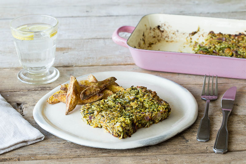 courgette and cheese gratin