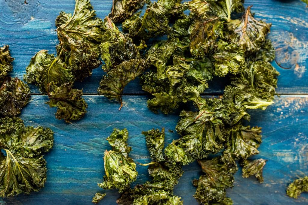 Frischen Grünkohl zubereiten: Grünkohlchips