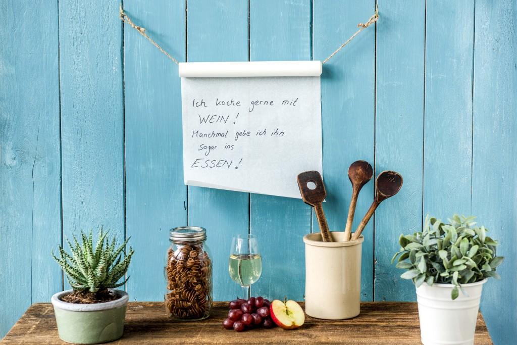 Schnelles Küchen DIY: Wein