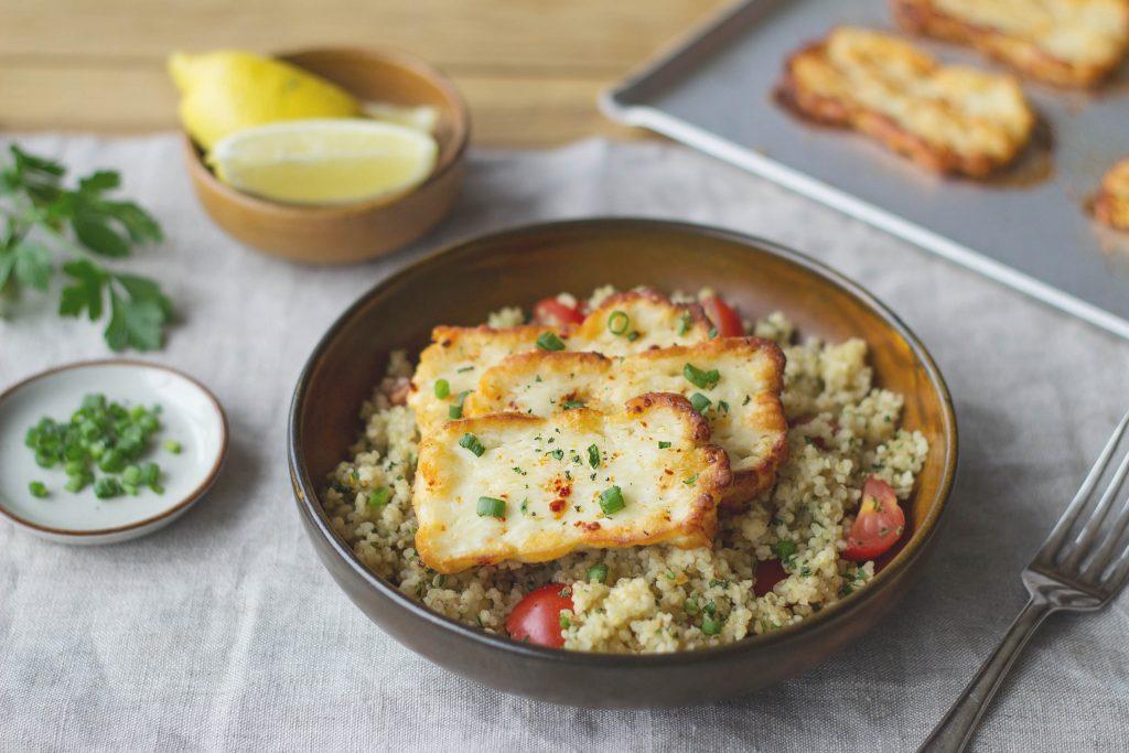 halloumi and quinoa