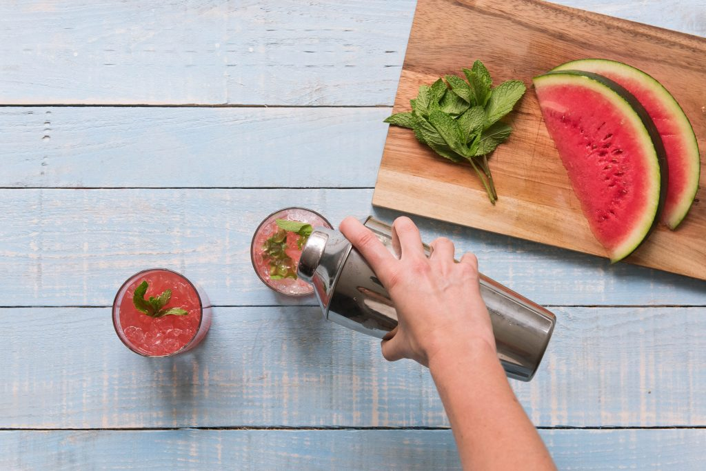 Fruchtiger Cocktail - Vorbereitungen