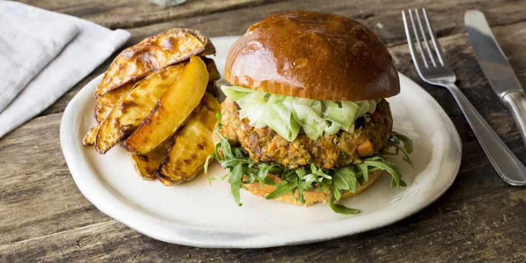 lentil burger vegetarian