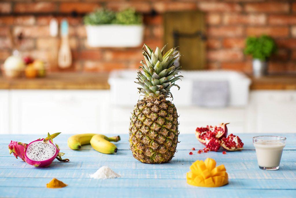 Unsere exotische Ananas Smoothie Bowl: Zutaten