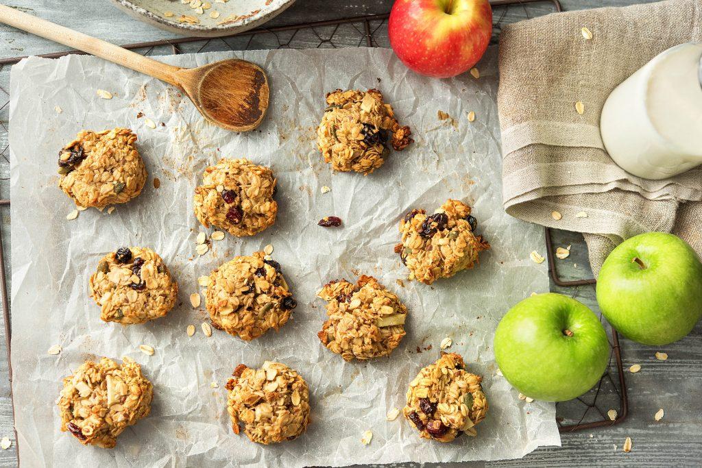 Gesundes Frühstück mit Apfel-Hafer-Keksen: Übersicht Kekse