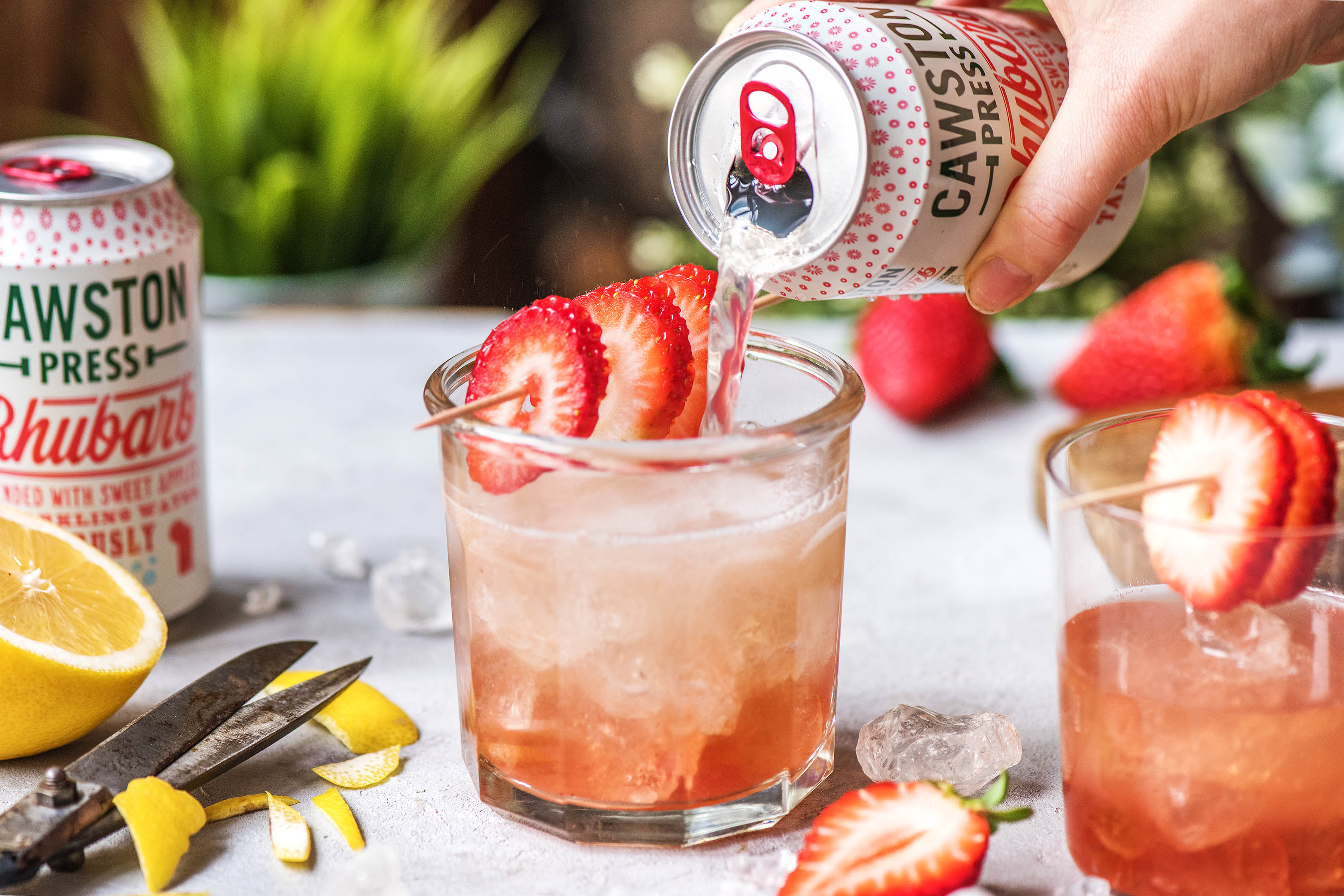 Our Rhubarb & Strawberry Cocktail  Recipe