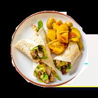 Chicken Tandoori Wraps with Bombay Potatoes