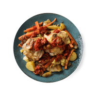Matador's Chicken and Chorizo Casserole with Crushed New Potatoes