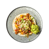 Mexican Spiced Chilli Tostadas with Guac and Cheese