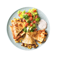 Quickdraw Quesadillas with Tomato and Corn Salsa