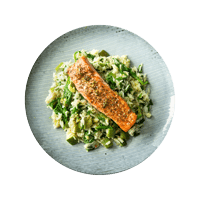 Zahtar Salmon with Fragrant Rice and Spinach
