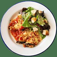 Eggplant & Mozzarella Roulades with Traditional Pesto