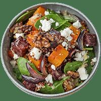 Pumpkin & Beet Quinoa Salad with Dijon Dressing & Walnuts