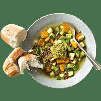Soupe au Pistou with Crusty Bread