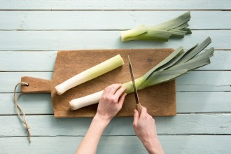 Happy World Health Day! Learn how to cut leek and add it to your dinner tonight.