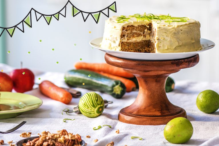 carrot and zucchini birthday cake