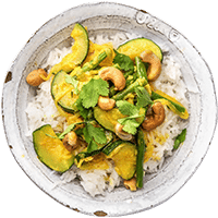 Indonesian Green Bean Curry with Jasmine Rice