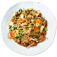 Japanese Teriyaki Salmon with Soba Noodles