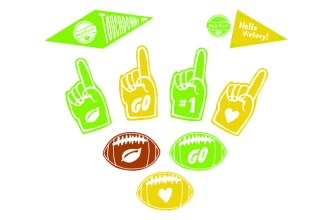 Toppers for Your Football Party