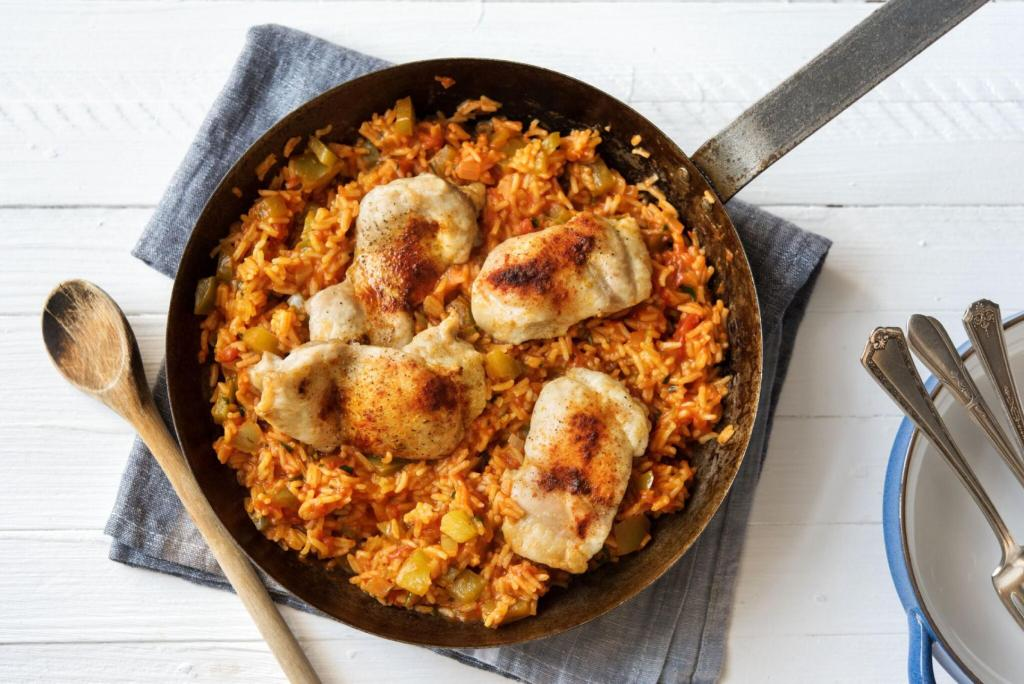 citrus recipes-honey-chicken-jambalaya-HelloFresh