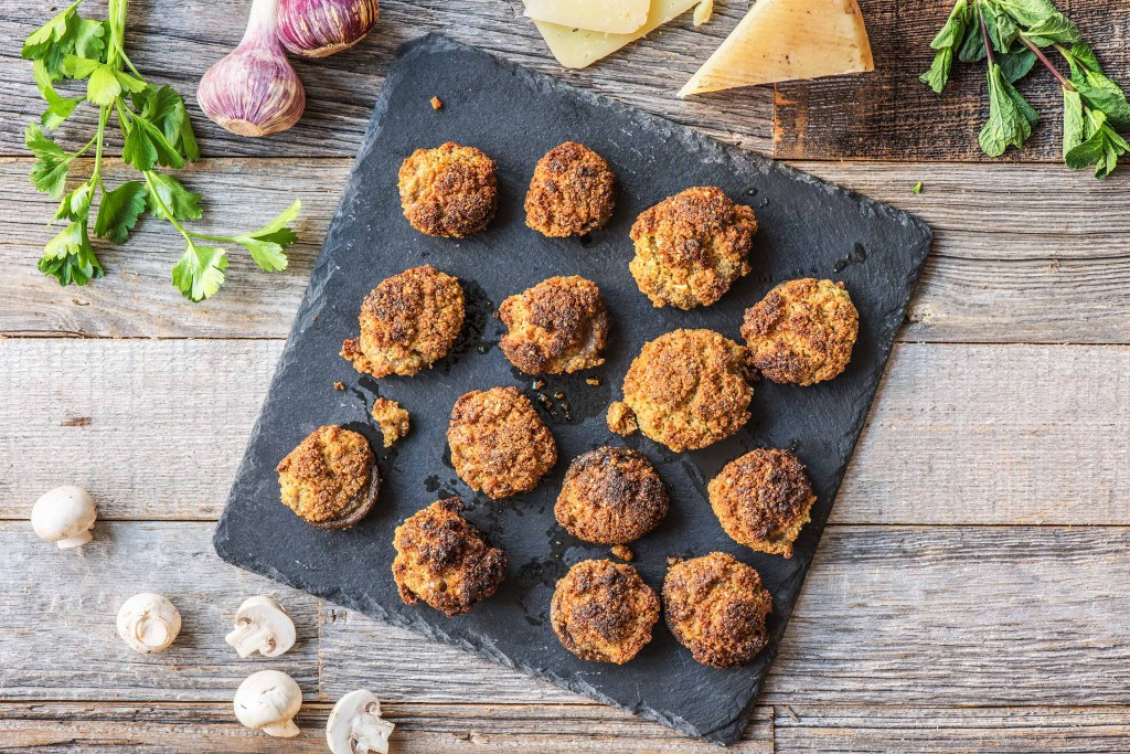 appetizers for a crowd-herb-stuffed-mushrooms-HelloFresh