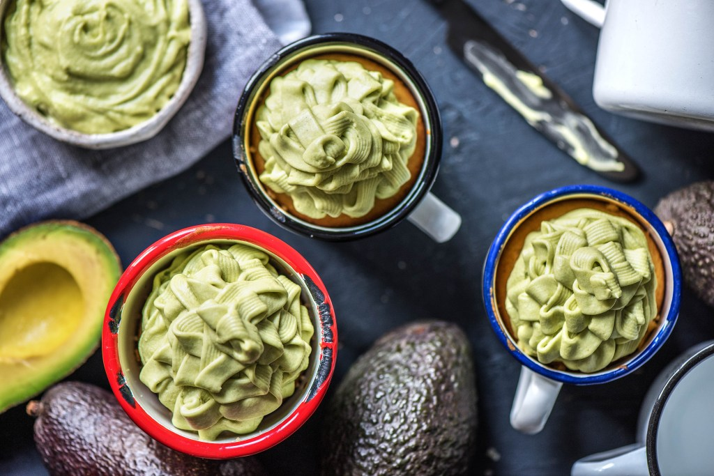 green foods-cupcake-avocado-frosting-HelloFresh