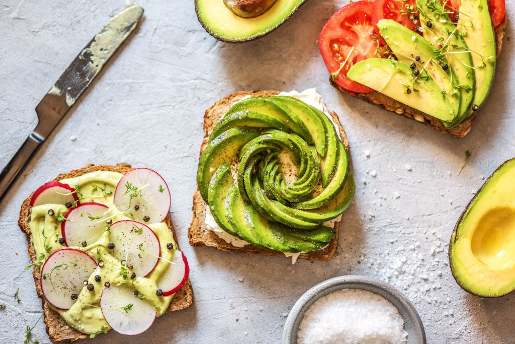green foods-avocado-rose-toast-HelloFresh